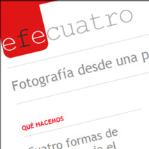 Custom Madrid based photography website designed by our company